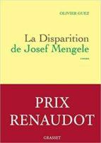 la disparition de josef mengele-olivier guez-9782246855873