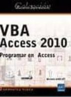 vba access 2010. programar en access michele amelot 9782746059573