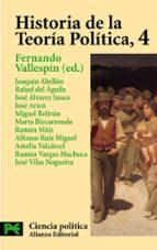 historia de la teoria politica (vol. iv) fernando vallespin oña 9788420673073