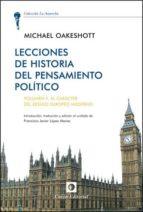 lecciones de historia del pensamientos politico, volumen ii michael oakeshott 9788472096073