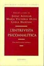 El libro de L entrevista psicoanalitica una investigacio empirica autor JAUME AGUILAR EPUB!