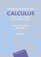 MANUAL DE SOLUCIONES PARA CALCULUS