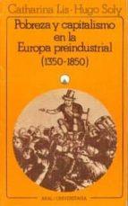 POBRERZA CAPITALISMO EN LA EUROPA PREINDUSTRIAL