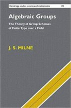 El libro de Algebraic groups: the theory of group schemes of finite type over a field autor J.S. MILNE PDF!