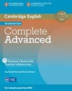 complete advanced 2nd edition teacher s book with teacher s resources cd-rom-9781107698383