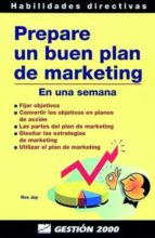 prepare un buen plan de marketing ros jay 9788480887083