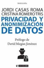 privacidad y anonimización de datos-jordi/romero, cristina casas-9788491169383