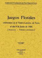 MEMORIA Y TRABAJOS PREMIADOS EN LOS JUEGOS FLORALES DE TORO (FACS IMIL)