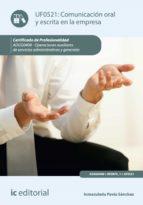 COMUNICACIÓN ORAL Y ESCRITA EN LA EMPRESA. ADGG0408 (EBOOK)