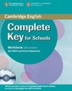 complete key for schools: workbook with answers with audio cd david mckeegan sue elliott 9780521124393