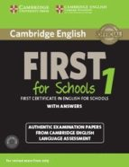 cambridge english first 1 for schools for revised exam from 2015 student s book pack (student s book with answers and audio cds 9781107672093