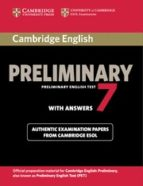 cambridge english preliminary test 7 student s book with answers 9781107675193