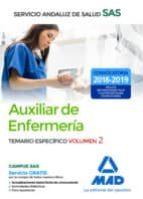 auxiliar enfermeria del servicio andaluz de salud. temario especifico volumen 2 9788414216293