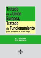 TRATADO DE LA UNIÓN EUROPEA, TRATADO DE FUNCIONAMIENTO (EBOOK)