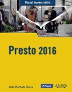 presto 2016-aida machado bueno-9788441537293
