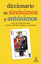 diccionarios de sinonimos y antonimos 9788467036893