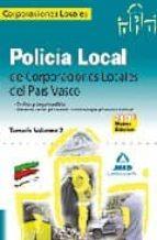 policia local de corporaciones locales del pais vasco. tenario vo lumen 2-9788467606393