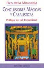 conclusiones magicas y cabalisticas (2ª ed.)-giovanni pico della mirandola-9788477204893