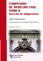 compendio de derecho civil tomo ii: derecho de obligaciones-xavier o callaghan muñoz-9788499612393