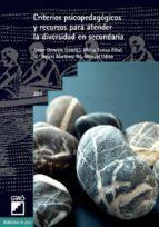 CRITERIOS PSICOPEDAGÓGICOS Y RECURSOS PARA ATENDER LA DIVERSIDAD EN SECUNDARIA (EBOOK)