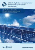 Replanteo Y Funcionamiento De Instalaciones Solares Fotovoltáicas. Enae0108