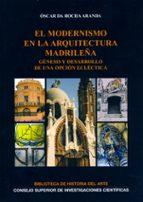 EL MODERNISMO EN LA ARQUITECTURA MADRILEÑA: GÉNESIS Y DESARROLLO DE UNA OPCIÓN ECLÉCTICA (EBOOK)