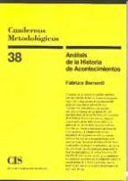 ANALISIS DE LA HISTORIA DE ACONTECIMIENTOS