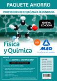 PAQUETE AHORRO FÍSICA Y QUÍMICA CUERPO DE PROFESORES DE ENSEÑANZA SECUNDARIA - 9788414215203 - VV.AA.