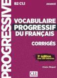 vocabulaire progressif du français (3re ed.)  niveau avance - corregis-claire miquel-9782090382013