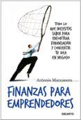 FINANZAS PARA EMPRENDEDORES - 9788423427833 - ANTONIO MANZANERA