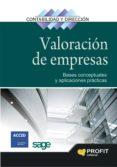 VALORACION DE EMPRESAS: BASES CONCEPTUALES Y APLICACIONES PRACTIC AS - 9788496998933 - VV.AA.
