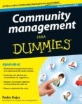 COMMUNITY MANAGEMENT PARA DUMMIES - 9788432921643 - PEDRO ROJAS