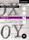 ANÀLISI III  (CATALUÑA) - 9788448915643 - VV.AA.