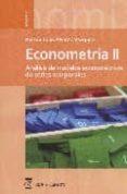 ECONOMETRIA II ; ANALISIS DE MODELOS ECONOMETRICOS DE SERIES TEMP ORALES - 9788496062443 - NELSON ALVAREZ VAZQUEZ