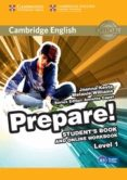 CAMBRIDGE ENGLISH PREPARE! 1 STUDENT S BOOK AND ONLINE WORKBOOK - 9781107497153 - VV.AA.