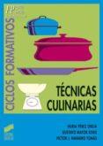 técnicas culinarias (ebook)-nuria perez oreja-gustavo mayor rivas-9788499582153