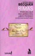 RIMAS: POESIAS QUE RECUERDO DEL LIBRO PERDIDO - 9788494535963 - GUSTAVO ADOLFO BECQUER