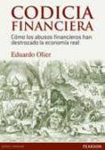 CODICIA FINANCIERA - 9788490353073 - EDUARDO OLIER