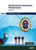 AYUDANTES DE INSTITUCIONES PENITENCIARIAS TEMARIO 3 - 9788490848173 - VV.AA.
