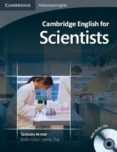 CAMBRIDGE ENGLISH FOR SCIENTISTS STUDENT S BOOK WITH AUDIO CDS (2) (CAMBRIDGE PROFESSIONAL ENGLISH) - 9780521154093 - VV.AA.