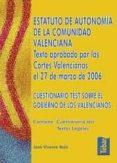 ESTATUTO DE AUTONOMIA DE LA COMUNIDAD VALENCIANA: TEXTO APROBADO POR LAS CORTES VALENCIANAS EL 27 DE MARZO DE 2006 - 9788473601993 - VV.AA.