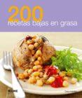 200 RECETAS BAJAS EN GRASA - 9788480768993 - VV.AA.