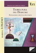 TEORIA PURA DEL DERECHO. EVOLUCION Y PUNTOS CRUCIALES - 9789567799893 - MARIO G. LOSANO