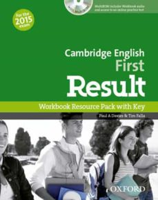Descarga gratuita de libros CAMBRIDGE ENGLISH: FIRST (FCE) RESULT WORKBOOK WITH KEY & AUDIO CD