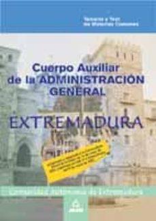 Permacultivo.es Cuerpo Auxiliar De La Administracion General De La Comunidad Auto Noma De Extremadura. Materias Comunes: Temario Y Test Image