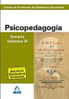 Officinefritz.it Cuerpo De Profesores De Enseñanza Secundaria Psicopedagogica Temario Volumen Iii Image