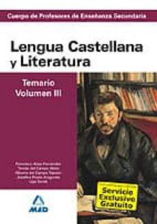 Encuentroelemadrid.es Cuerpo De Profesores De Enseñanza Secundaria Lengua Castellana Y Literatura Temario Volumen Iii Image