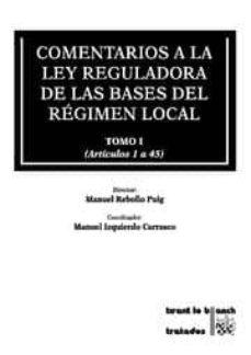Valentifaineros20015.es Comentarios A La Ley Reguladora De Las Bases Del Regimen Local (4 Tomos) (Incluye Cd-rom) Image