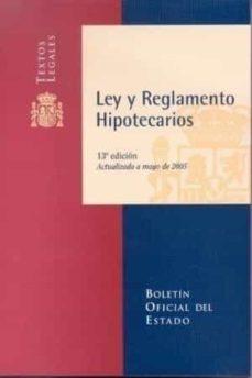 Followusmedia.es Ley Y Reglamento Hipotecarios (13ª Ed.) Image