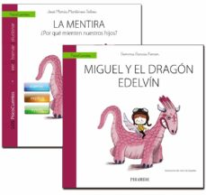 guía: la mentira + cuento: miguel y el dragón edelvín-gemma garcia ferrer-jose maria martinez selva-9788436837513